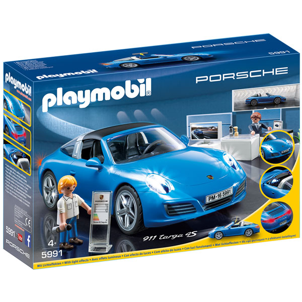 Playmobil Porsche 911 Targa 4s, svetlecI efekti inside and out